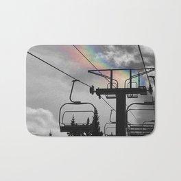 4 Seat Chair Lift Rainbow Sky B&W Bath Mat