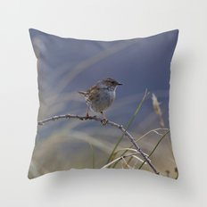 Dunnock Throw Pillow