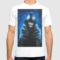 The Hooded One Mens Fitted Tee MEDIUM White