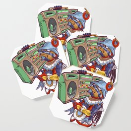 Tezcatlipoca Old School Hip Hop Coaster