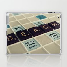 Beach Scrabble Laptop & iPad Skin