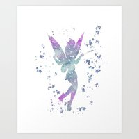 tinker bell Art Prints featuring Tinker Bell Disneys by Carma Zoe