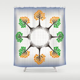 Abstract trees background Shower Curtain