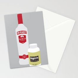 Vodka & Aspirin Stationery Cards