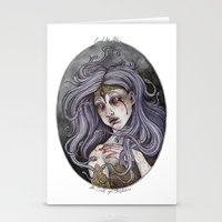 caitlin hackett Stationery Cards featuring the Birth of Medusa by Caitlin Hackett