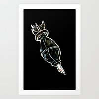 bombs away Art Prints featuring BOMBS AWAY! by FWACATA!
