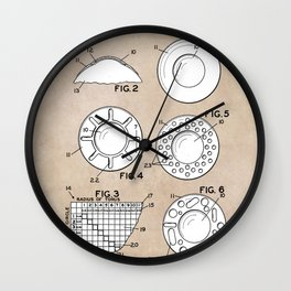 patent art Feinbloom Contact Lens 1938 Wall Clock