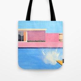 Splash! after David Hockney Tote Bag
