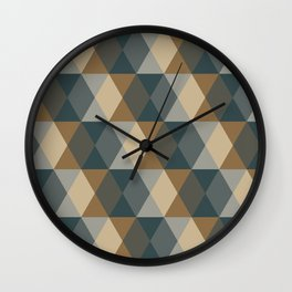 Caffeination Geometric Hexagonal Repeat Pattern Wall Clock