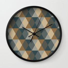 Caffeination Geometric Hexagonal Repeat Pattern Wall Clock