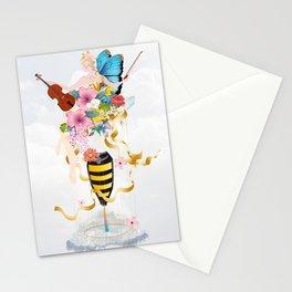 surreal imaginative motif of a princess Stationery Cards