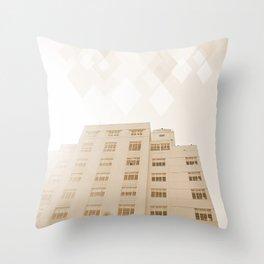 Beach hotel Throw Pillow