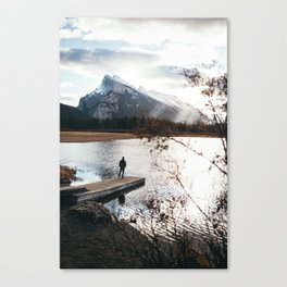 Vermillion Lakes Canvas Print