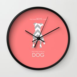 The More I Love My Dog Wall Clock