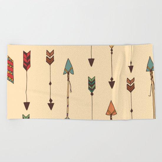 Vintage Tribal Arrows Beach Towel