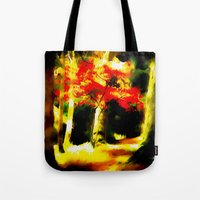 redhead Tote Bags featuring Redhead by Nev3r