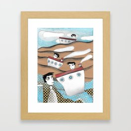 Voyage Out To Sea Framed Art Print