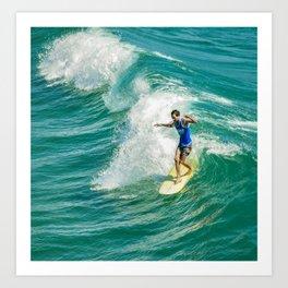 Longboarding Art Print