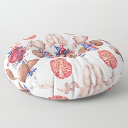 Watercolor organs Floor Pillow