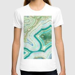 Sea Spray Crystal Agate Slice T-shirt