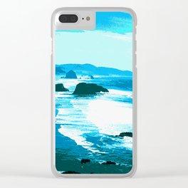 oregon beach Clear iPhone Case