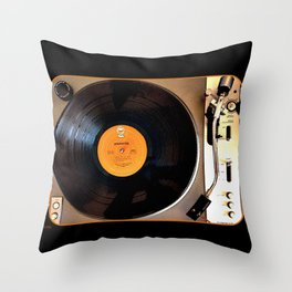Vintage Pioneer Turntable Throw Pillow