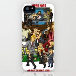 Work Hard or Die Trying Girl iPhone Case