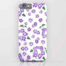 Purple Lantana Flower Pattern iPhone Case