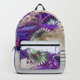floral bugambilia woman Backpack