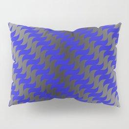 3d Blue Wavy Lines Pillow Sham