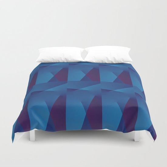 Abstract Geometric QQ Duvet Cover