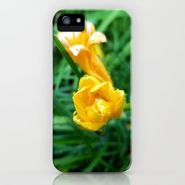 A Touch of Yellow iPhone Case