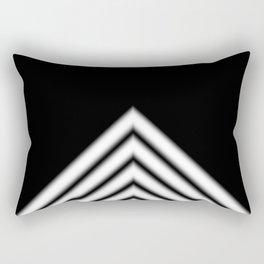 Black White Stripe Rectangular Pillow