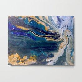 Marblized, Blue Series Metal Print