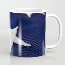 Focus On American Flag Star Coffee Mug