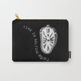 Salvador Dali Inspired Melting Clock. Time is melting away. Carry-All Pouch