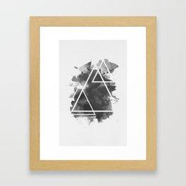 Splashed Triangles Framed Art Print