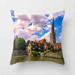 Along the Thames. Throw Pillow