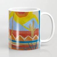 desert Mugs featuring Desert by Abundance