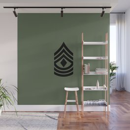 1st Sergeant (Green) Wall Mural