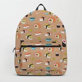 Yummy sushi pattern Backpack