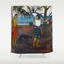 Under the Pandanus by Paul Gauguin Shower Curtain