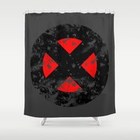 xmen Shower Curtains featuring XMen by sambeawesome