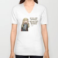 thranduil V-neck T-shirts featuring Thranduil Zombies  by BlacksSideshow