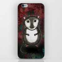 gemma correll iPhone & iPod Skins featuring Gemma the Gerbil by Studio 8107