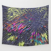 popart Wall Tapestries featuring Pattern PopArt by Nico Bielow by nicobielow