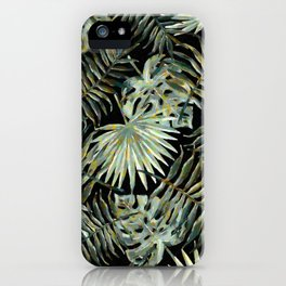 Jungle Dark Tropical Leaves #decor #society6 #pattern #style iPhone Case