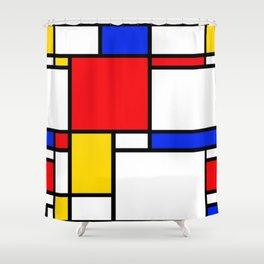 Piet Pattern Shower Curtain