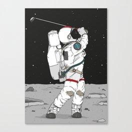 Golf on the moon - Astronaut Canvas Print