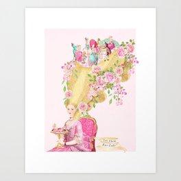 Marie Antoinette, High hair, tea party coiffure Art Print